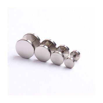 ac PEAPO2Q 3 Colors For Choose Cheater Ear Plugs Illusion Fake Plugs Tunnels Taper 2pcs/lot for Stainless Steel Man Ear Stud C30