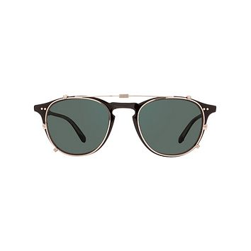 Garrett Leight - Hampton Clip M 44mm Silver Clip-On Sunglasses / G15 Lenses
