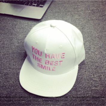 You Have The Best Smile Embroidered Baseball Cap Hat