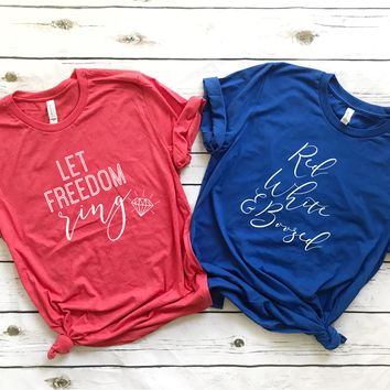 Memorial Day / 4th of July Bachelorette Party Shirts