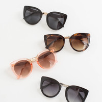 Trisha Round Cateye Sunglasses