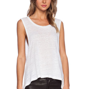 ARE YOU AM I Extreme Armhole Tank in Natural White