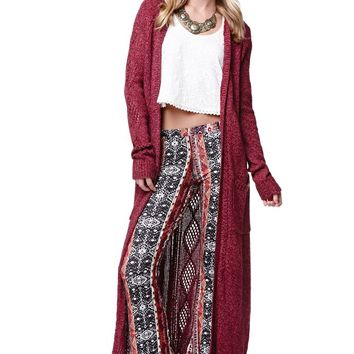 LA Hearts Open Sleeve Maxi Cardigan - Womens Sweater
