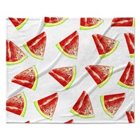 "Sreetama Ray ""Summer Fun"" Watermelon Fleece Throw Blanket"