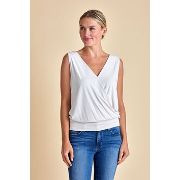 Veronica M Double Vneck Surplice Tank