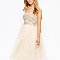 River Island Bandage Embellished Prom Dress