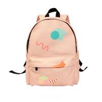 Pink Geo Backpack