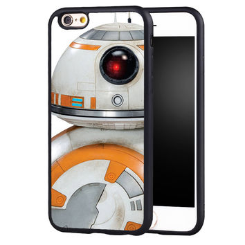 Star Wars BB 8  Printed Protective Soft TPU Skin Mobile Phone Case For iPhone 6 6S Plus SE 5 5S 5C 4 4S Back Shell Cover