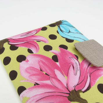 iPad Mini Cover Kindle Fire Cover Nook Simple Touch Cover Kobo Cover Case Flowers Polka Dots eReader