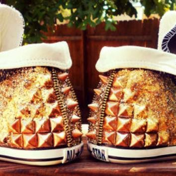 leather chuck taylor low profile studded spiked converse