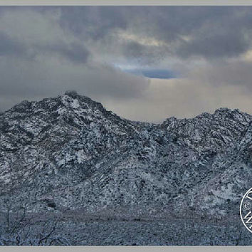 Mountains Photography Print 11x16 Fine Art Wall Art Decor Southwest Art Arizona Desert Art Winter Scene