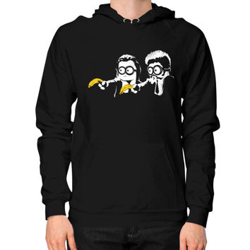 Minion Fiction Hoodie (on man)
