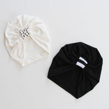 turban / baby toddler child hat / mix and match / vintage modern girl hat