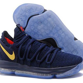 Nike KD 10 'Olympic' Blue Yellow For Sale