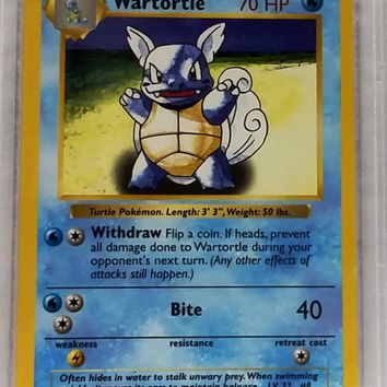 PSA 9 Wartortle Shadowless 42/102 Pokemon Base Set NM