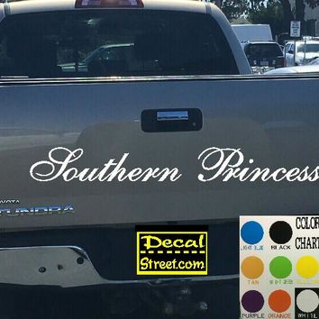 Southern Princess Tailgate Decal Sticker 4x4 Diesel Truck SUV