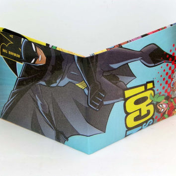 Comic Book Wallet// Batman and Teen Titans: Starfire, Robin, and Cyborg