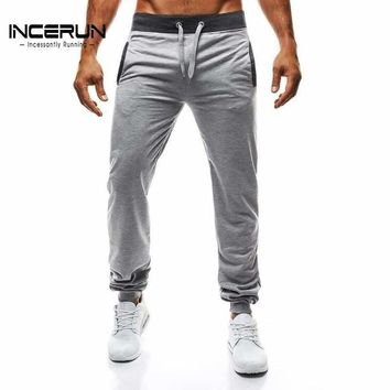 INCERUN Autumn Mens Pants Casual Sweatpants Joggers Long Trousers For Men Slim Solid Color Workout Pants Male 2018 Brand New 2XL