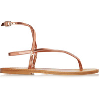 K Jacques St Tropez - Delta metallic leather sandals