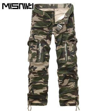 MISNIKI Good Quality Military Cargo Pants Men Hot Camouflage  Cotton Men Trousers  7 Colors