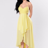 Come On Over Here Dress - Lemon