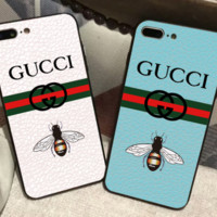 Gucci Full Color cool honey bee iphone6/7plus personality creative 6p female Full package i8p shell