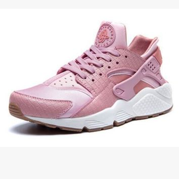 """NIKE"" Women Casual Running Sport Shoes Sneakers Huarache pink"