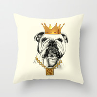dog Throw Pillow by Mark Ashkenazi
