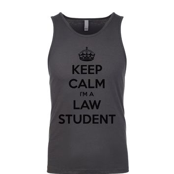 Keep Calm I'm A Law Student Men's Tank