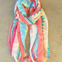 Spring Geometric Scarf [3754] - $16.80 : Vintage Inspired Clothing & Affordable Summer Frocks, deloom | Modern. Vintage. Crafted.