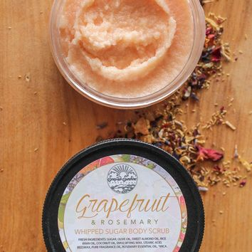 Grapefruit & Rosemary - Whipped Sugar Scrub