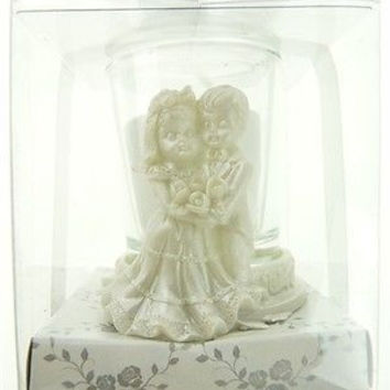 Wedding Bridal Shower Anniversary Party Favor Souvenir Gift Keepsake Ready Made, Votive Candle, Couple Kids