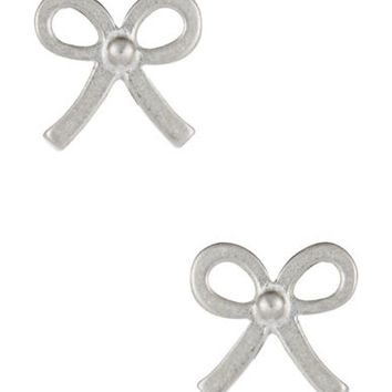 Dogeared Bow Stud Earrings
