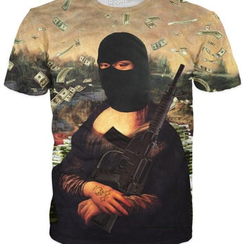 Gangster Mona Lisa T-Shirt