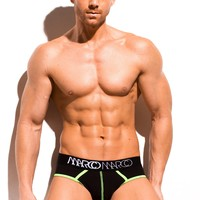 Neon Stitch Brief Black