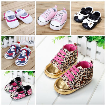 Fashion Baby Shoes Girls Cotton Soft Sole Skid-proof Cute Kids Toddler Shoes First Walkers Fit 0-12 Months
