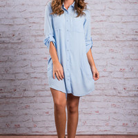 Stay Grounded Dress, Ice Blue