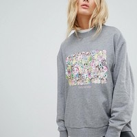 Cheap Monday Block Floral Sweatshirt at asos.com