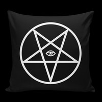 PENTAGRAM PILLOW BLACK