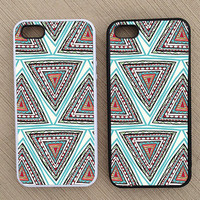 Cute Abstract Triangle Geometric Pattern iPhone Case, iPhone 5 Case, iPhone 4S Case, iPhone 4 Case - SKU: 230