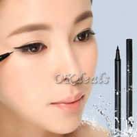 1 X Waterproof Rotary Gel Cream Eye Liner Black Eyeliner Pen Makeup Cosmetic