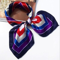 Women Bandanna Polyester Scarf Square Head Wraps Scarves