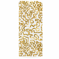 "Anneline Sophia ""Squiggles in Gold"" Yellow White Luxe Rectangle Panel"