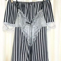 Cute Hot Deal On Sale Summer Stripes Lace Sexy Dress Hot Sale Exotic Lingerie [6595948419]