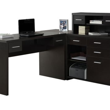 Computer Desk - Cappuccino Left Or Right Facing Corner