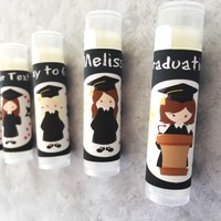 Graduation Custom Lip Balm | Graduation Favors | Free Customization