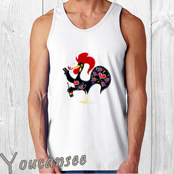 andrecatano port wine invasion Barcelos Rooster - men tank top ---print screen tank top for men, Awesome tank top for Man,Size S --- 3XL