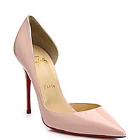 Christian Louboutin - Patent Leather Half D'Orsay Pumps - Saks Fifth Avenue Mobile