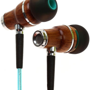 Earbuds by Symphonized NRG 2.0 Premium Genuine Wood In-ear Noise-isolating He...