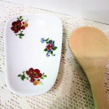 Spoon Rest Kitchen Ceramic Porcelain Pottery Hand Crafted